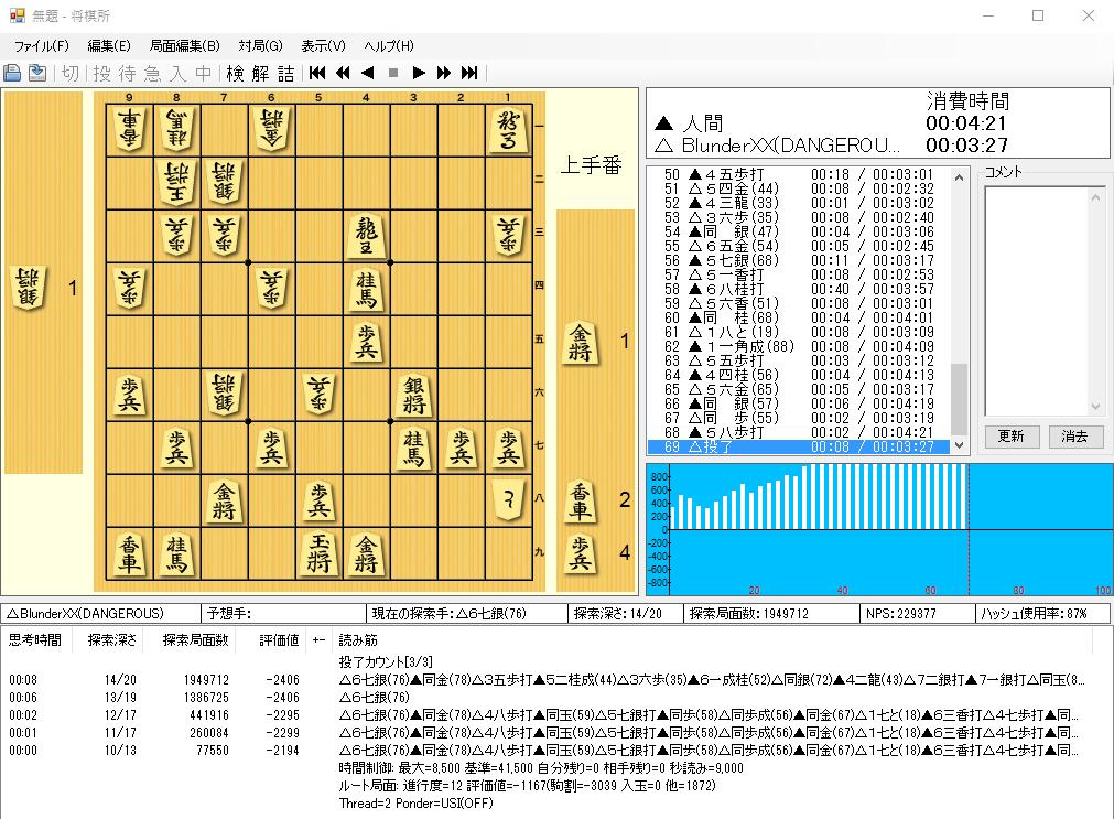 無料将棋ゲームソフト【Blunder】のダウンロード方法